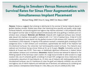 Healing in Smokers Versus Nonsmokers: Survival Rates for Sinus Floor Augmentation with Simultaneous Implant Placement