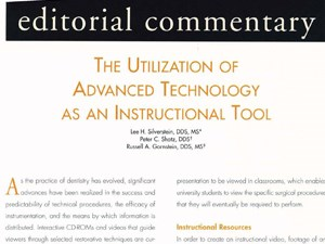 The Utilization of Advanced Technology as an Instructional Tool