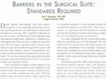Barriers in the Surgical Suite: Standards Required